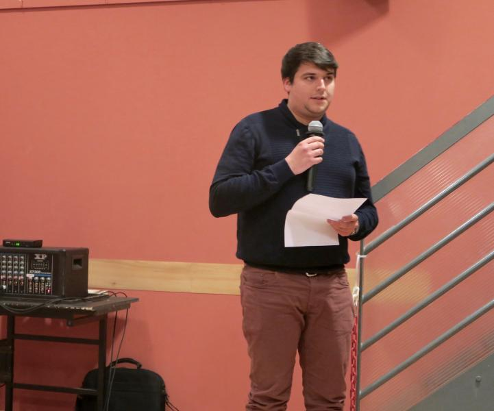 Florian Tissot, futur secrétaire exécutif de la FGC